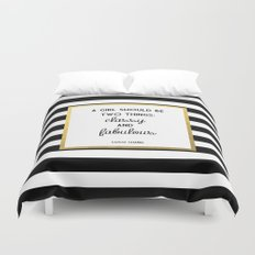 Coco Gold Classy & Fabulous Gold Print Duvet Cover