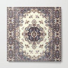 V8 Moroccan Epic Carpet Texture Design. Metal Print