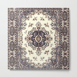 V8 Moroccan Epic Carpet Texture Design. Metal Print