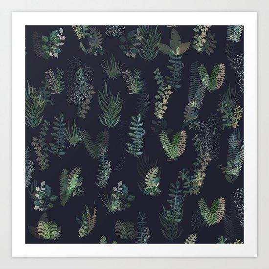 green garden at nigth mirror!!! Art Print