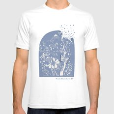 Butter fly White MEDIUM Mens Fitted Tee