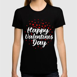 Happy Valentines Day Hearts Cupids Romance Saint Valentines Gift T-shirt