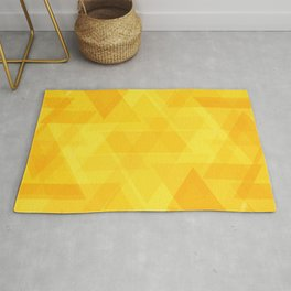 Bright yellow triangles in intersection and overlay. Rug