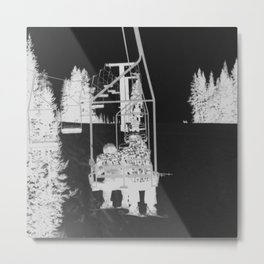 Inverted Ski Lift Metal Print