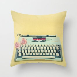 The Typewriter Throw Pillow