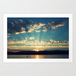 Rays of Sunset Art Print