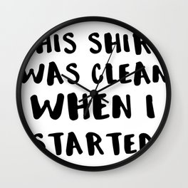 Color Run I Like It In the Face Wall Clock