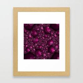 Raspberry Lather Framed Art Print