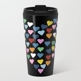 Hearts Heart Black Metal Travel Mug