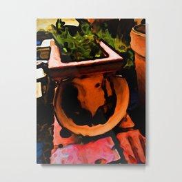Broken Terracotta Metal Print