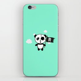 Panda Pirate with Flag T-Shirt for all Ages Da19o iPhone Skin
