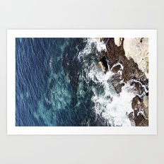 Rock Water Art Print
