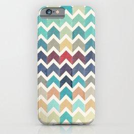 Watercolor Chevron Pattern iPhone Case
