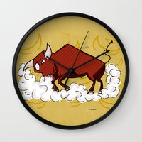 taurus Wall Clocks featuring Taurus by Giuseppe Lentini