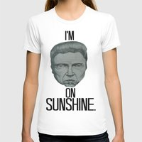 christopher walken T-shirts featuring Walken On Sunshine by Ryan Marsolek
