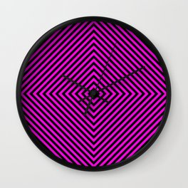 Pink and Black Diamond Wall Clock