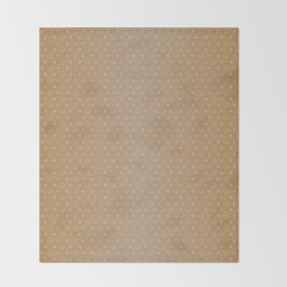 Art Deco, Simple Shapes Pattern 1 [LIGHT GOLD] Throw Blanket
