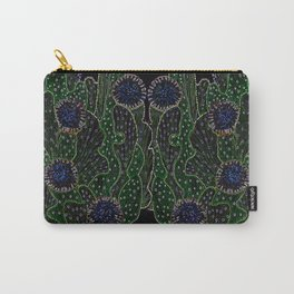 Blooming Cactus, Black and Neon Carry-All Pouch