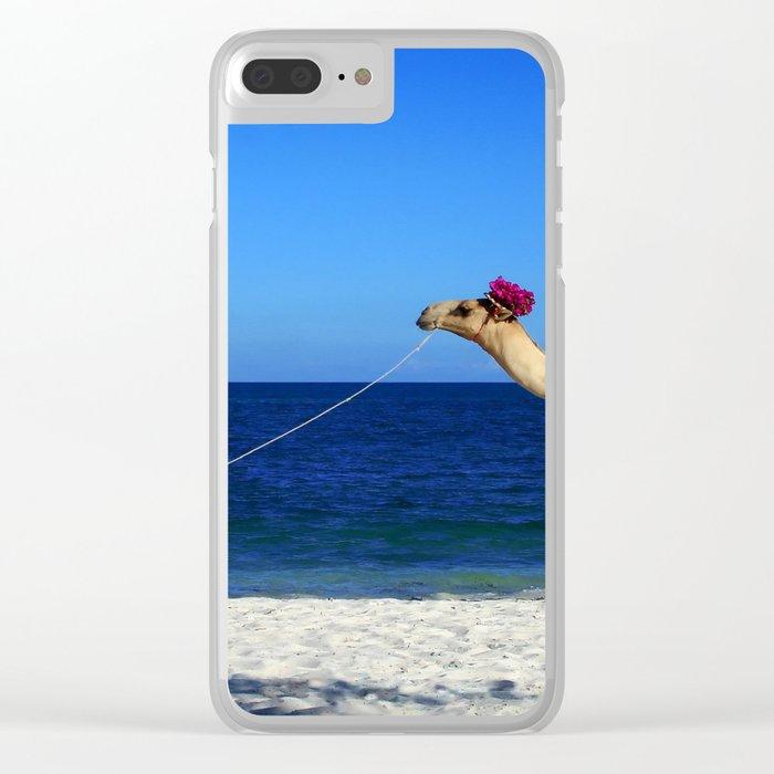 Camel Beach Clear iPhone Case