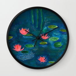 The Water Lilies Wall Clock