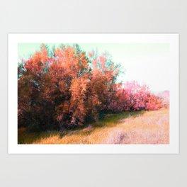 Spring pink landscape Art Print