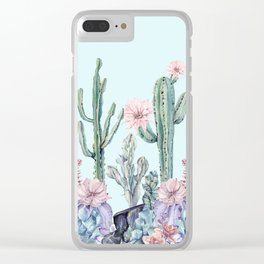 Desert Gemstone Oasis Turquoise Clear iPhone Case