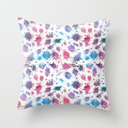 Grungy Watercolour Pattern Throw Pillow