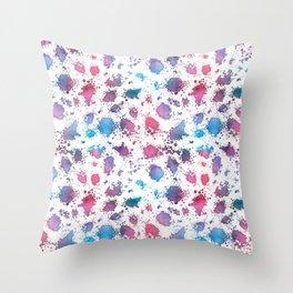 Grungy Watercolour Pattern Throw Pillow
