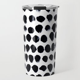 Black Dots Travel Mug