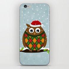 Christmas Owl iPhone & iPod Skin