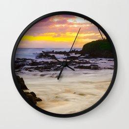 Paako Beach Sunset Jewel Wall Clock