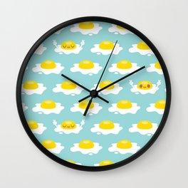 Sunny Side Up! / Print / Blue Wall Clock