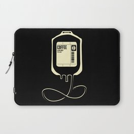 Coffee Transfusion - Black Laptop Sleeve
