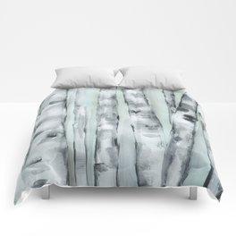 Birch trees in winter Comforters
