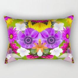 Flower mess - Pink Chaos Rectangular Pillow