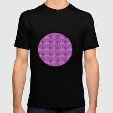 Circular Wave Mens Fitted Tee Black MEDIUM