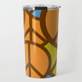 Cool Colorful Groovy Peace Symbols #society6 #decor #buyart #artprint Travel Mug