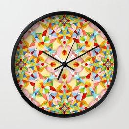 Pastel Carousel II Wall Clock