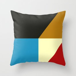 Mid Century Geometric A Throw Pillow