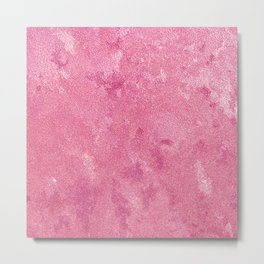 Abstract modern pink white paint texture Metal Print