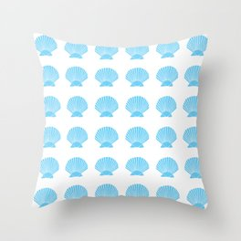 Light Blue Seashell Throw Pillow