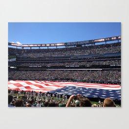Jet's home opener - National Anthem Canvas Print