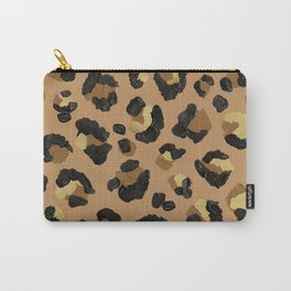 Leopard Print – Neutral & Gold Palette Carry-All Pouch