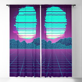 The Future World Synthwave  Blackout Curtain