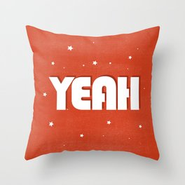Yeah modern typography Throw Pillow