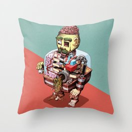 Discharge Throw Pillow