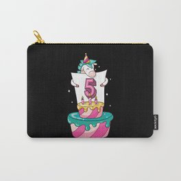 Unicorn Cake Design Gift For The 5th Birthday Carry-All Pouch