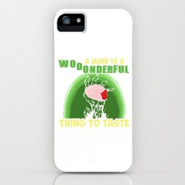 Hallows Eve Funny Halloween Gift A Mind Is Wonderful Thing To Taste iPhone Case