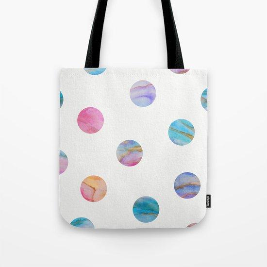 Marble Polka Dots Tote Bag