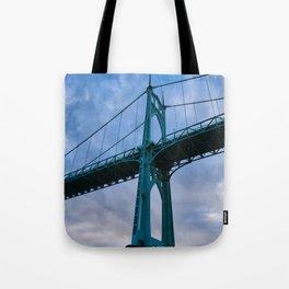 St. Johns Bridge, Gothic Tower Tote Bag
